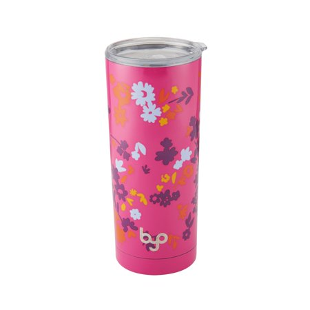 af2c6237440 Byo 20 Ounce Double Wall Stainless Steel Tumbler Floral - Walmart.com