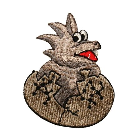ID 0779 Baby Dinosaur Hatching Patch Dino Egg Born Embroidered Iron On Applique (Dinosaur Egg Hatching)