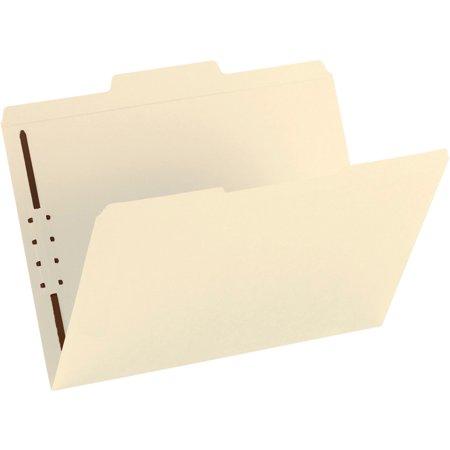Smead Fastener File Folder, 1 Fastener, Reinforced 1/3-Cut Tab, Letter Size, Manila, 50 each per Box - Manila Recycled File Jackets Reinforced