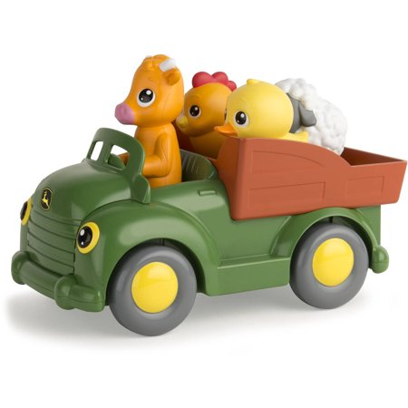 John Deere Learn n Pop Farmyard Friends, Toddler Toy Tractor with Music & - Toddler Tractor