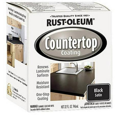 Rustoleum Countertop Paint On Bathtub : Rust-Oleum Countertop Coating, Quart, Black - Walmart.com