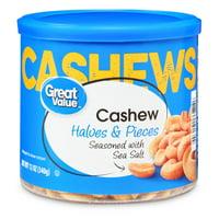 Great Value Cashew Halves & Pieces, 12 Oz
