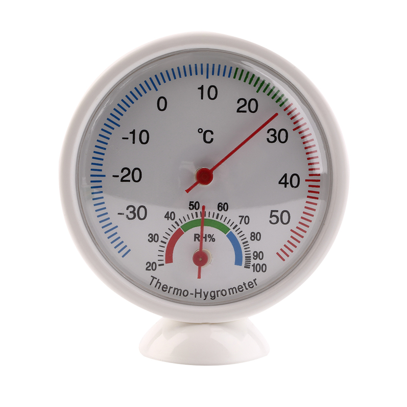 High Quality Indoor Outdoor Thermometer Hygrometer Temperature Meter New Multicolor by