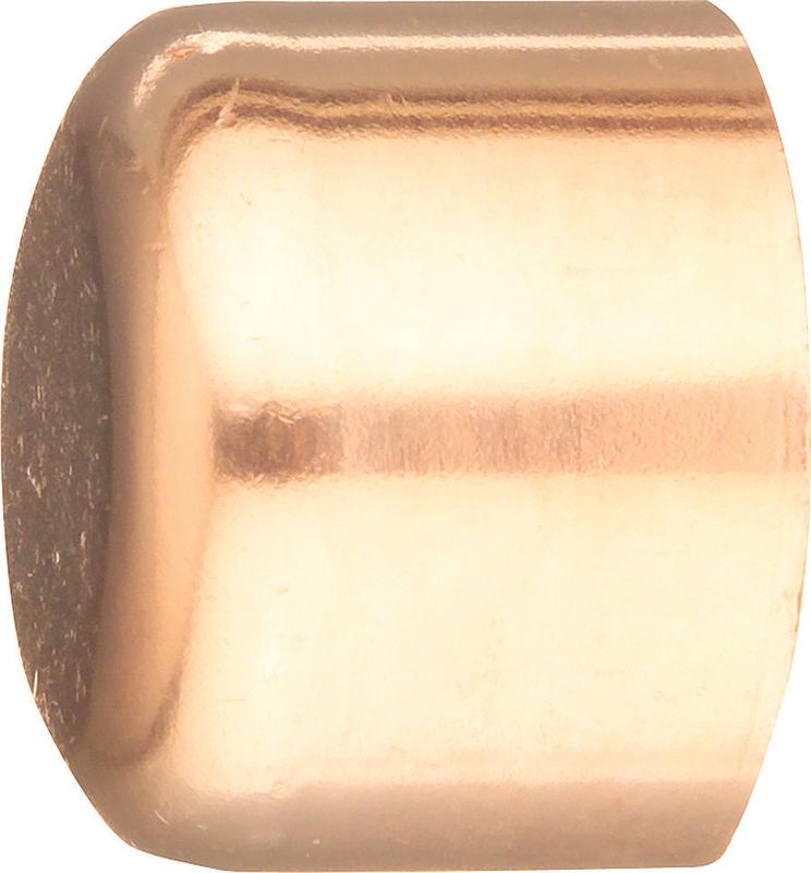 EPC 30624 Tube Cap, 3/8 in, Sweat/Solder, Wrot Copper