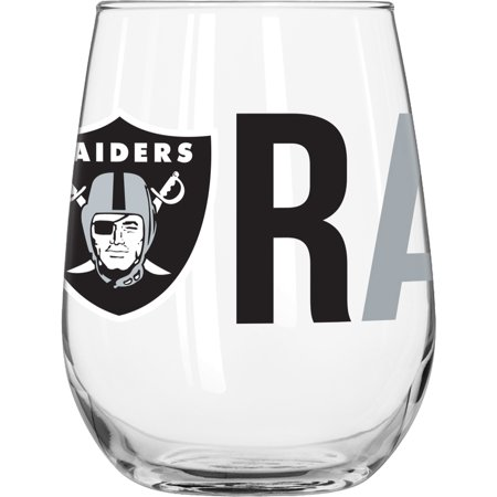 - NFL Oakland Raiders 16 oz. Overtime Curved Beverage Glass