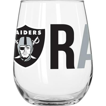 NFL Oakland Raiders 16 oz. Overtime Curved Beverage Glass