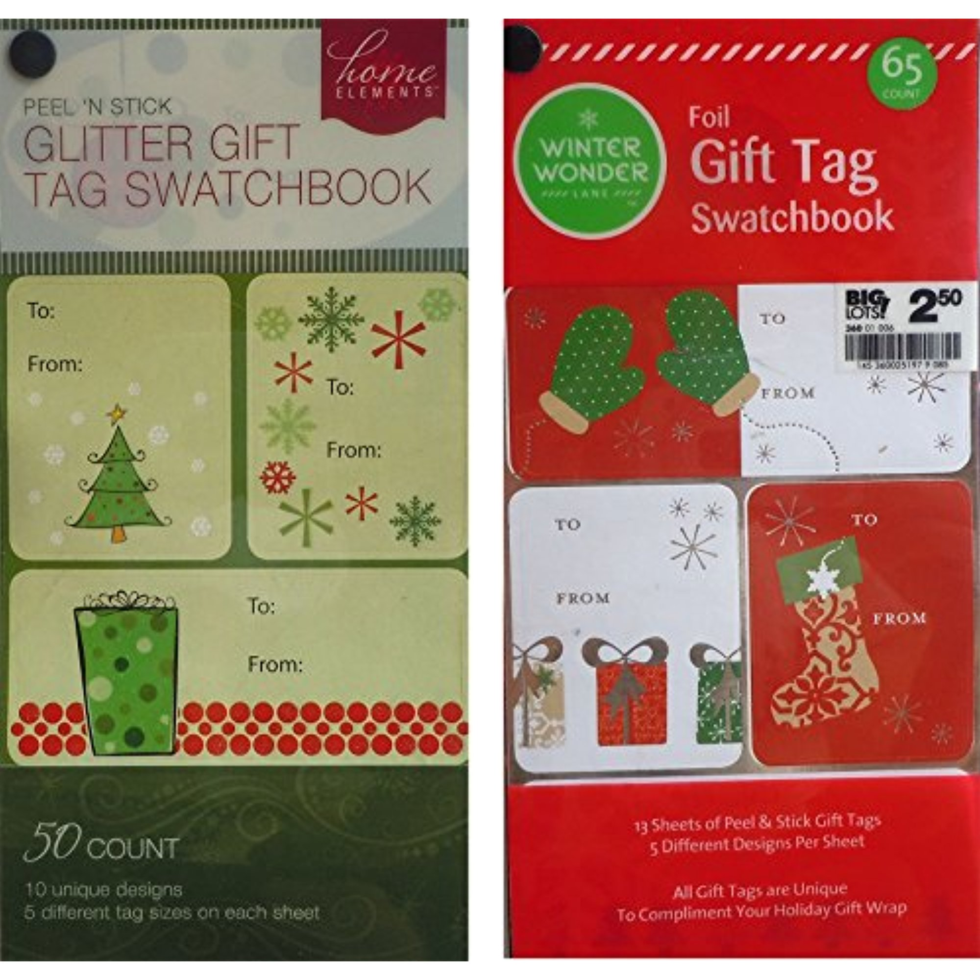 115 Foil and Glitter Christmas Gift Tags