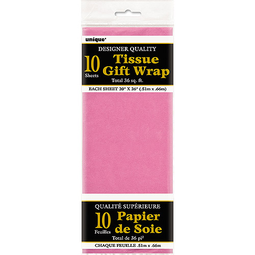 Hot Pink Tissue Paper Sheets, 10pk