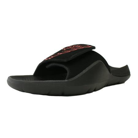cc2e4f349cc1 AIR JORDAN - NIKE AIR JORDAN RETRO 7 HYDRO VII SLIDE BLACK RED SANDAL  AA2517 062 - Walmart.com