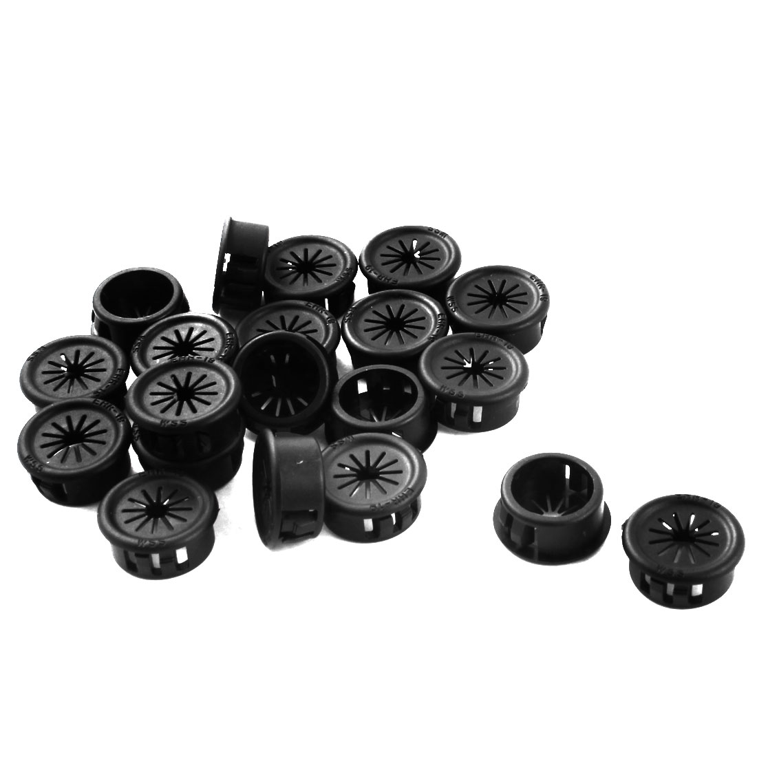 19mm Plastic Snap in Mounting Cable Bushing Protection Grommet 20 Pcs