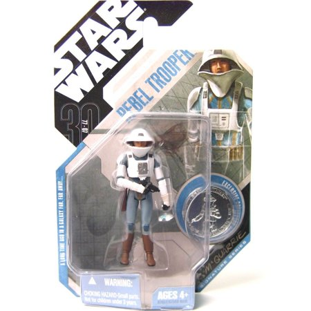 Star Wars  30Th Anniversary  Mcquarrie Concept Rebel Trooper Action Figure  09  Silver Coin   3 75 Inches By Hasbro
