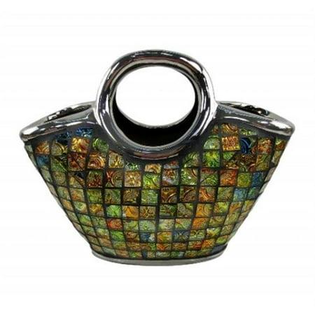 Purse Decorative Ceramic & Glass Flower Vase - 14.5 x 5.5 x 9 in. - image 1 de 1