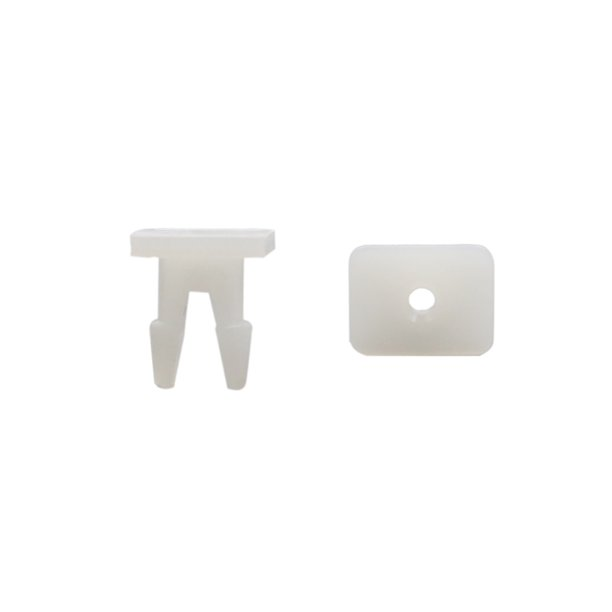 Partsam 20pcs 4 7mm 12v Car Green Mini Bulbs Lamps: 20Pcs White Plastic Rivets Mat Moulding Fastener Clip