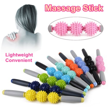 Moaere Muscle Roller Massage Stick 17 inch Body Massage Tools for Relieving Tight and Sore Muscle Myofascial Pain Syndrome Back Pain or