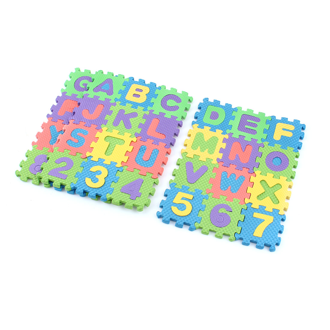 unique bargains 3 pcs 16cmx21cm interlock jigsaw puzzle foam floor mats assorted color