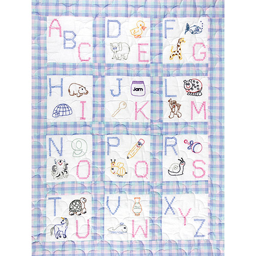 "Jack Dempsey ABC Nursery Quilt Blocks, 12Pk, 9"" x 9"""