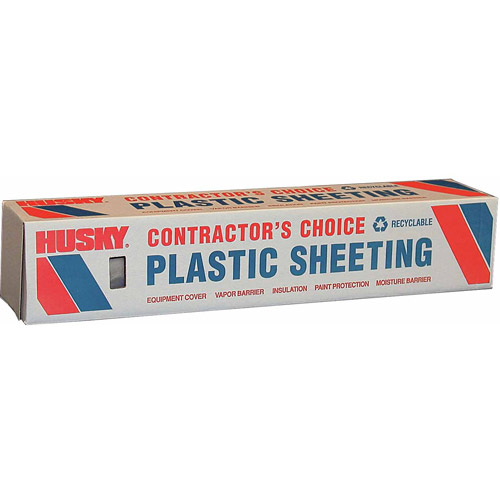 Husky 4 mL Polyethylene Opaque Plastic Sheeting, 20' x 100'