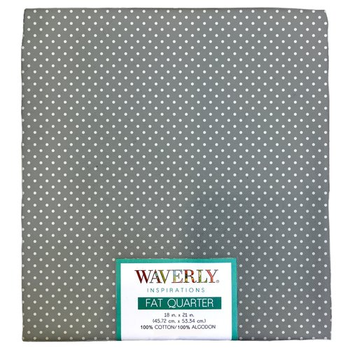 "Waverly Inspiration PINDOT STEEL Fat Quarter 100% Cotton, Pindot Print Fabric, Quilting Fabric, Craft fabric, 18"" by 21"", 140 GSM"