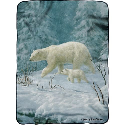 "Hautman Brothers 60"" x 80"" Royal Plush Raschel Throw"