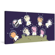 """Marmont Hill """"Space"""" Peppa Pig Painting Print on Canvas"""