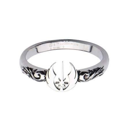 Star Wars Jedi Symbol Cut Out Stainless Steel Ring | 8