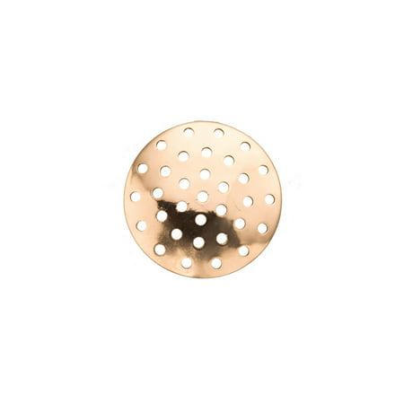 Perforated Disk (20mm Gold Finished perforated Disc pack of 30 (2-Pack Value Bundle), SAVE $1 1847Fd)