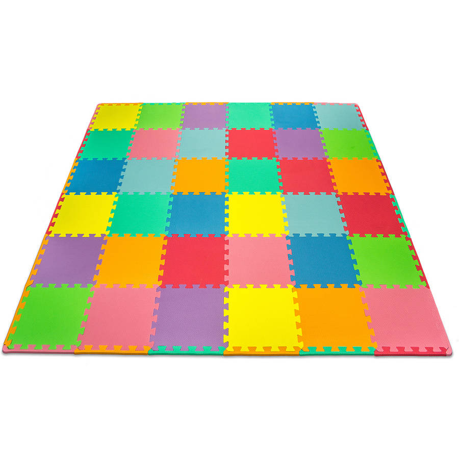 Matney Foam Floor Puzzle Piece Play Mat With Borders Included