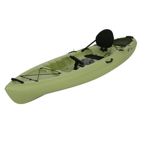 Lifetime weber 11 39 sit on top fishing kayak light olive for Kayak lights for night fishing