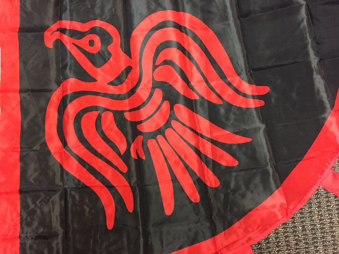 Scandinavian Viking Raven Flag 3 x 4 Foot Red and Black Norse Pirate Banner New
