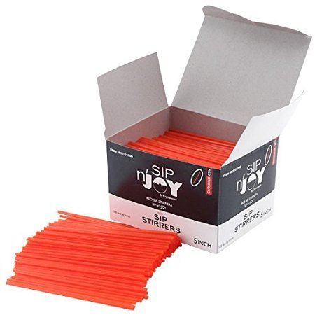 Cocktail Drink Straws - 1000 Count - Red 5