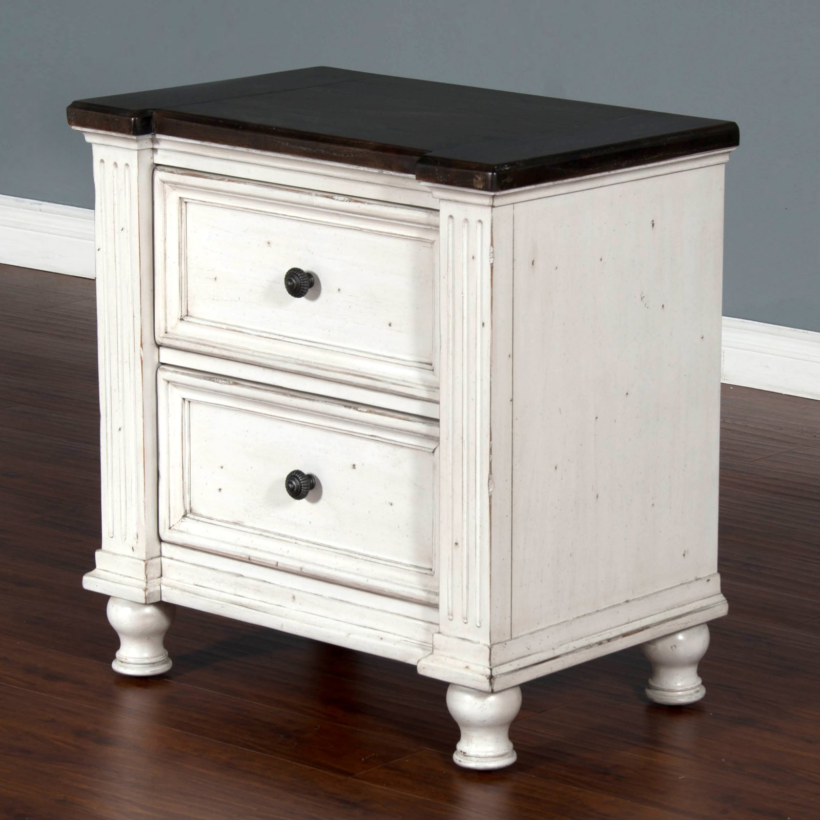 Sunny Designs Carriage House 2 Drawer Nightstand