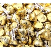 Hershey's Kisses, Milk Chocolate with Almond, Gold Foils (Pack of 4 Pound)