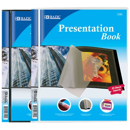 New 401844   10- Pockets Presentation Book (24-Pack) Binders Cheap Wholesale Discount Bulk Stationery Binders River Stones