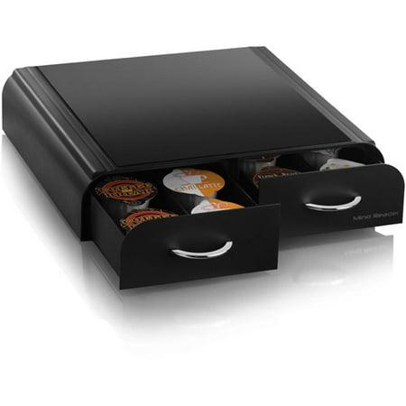 Best Mind Reader Vue/Tassimo/Vertuoline K-Cup Single Serve Coffee Pod Double Drawer Storage Organizer, Black deal