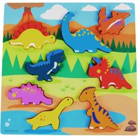 Spark. Create. Imagine. 8-Piece Chunky Wooden Puzzle (Colors & Styles May Vary)