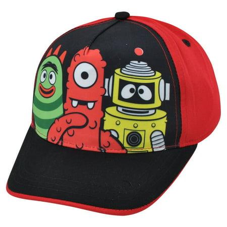 Two Tone Hat Cap - Yo Gabba Gabba! Muno Brobee Two Tone Red Black Child Adjustable  Hat Cap