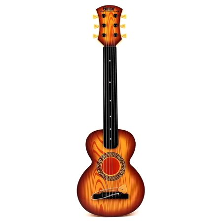 Rock Star 6 Stringed Toy Guitar Musical Instrument w/ Guitar Pick (Colors May Vary) Instruments for Kids, Children. Great Educational Gift.