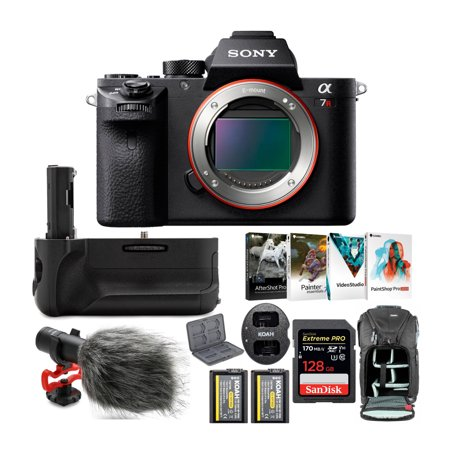 Sony Alpha a7RII Mirrorless Digital Camera (Black) with 128GB SD Card Bundle