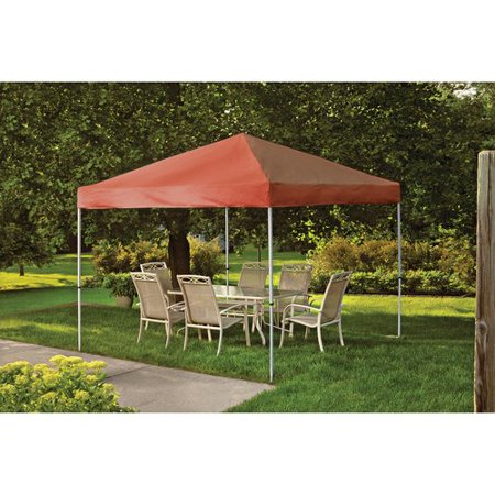 10' x 10' Pro Pop-up Canopy Straight Leg, Terracotta Cover