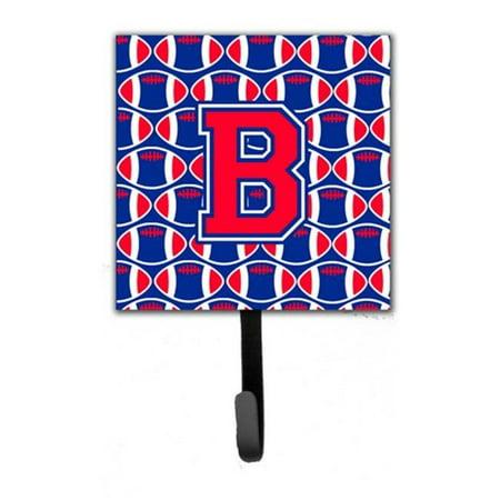 Letter B Football Harvard Crimson and Yale Blue Leash or Key Holder CJ
