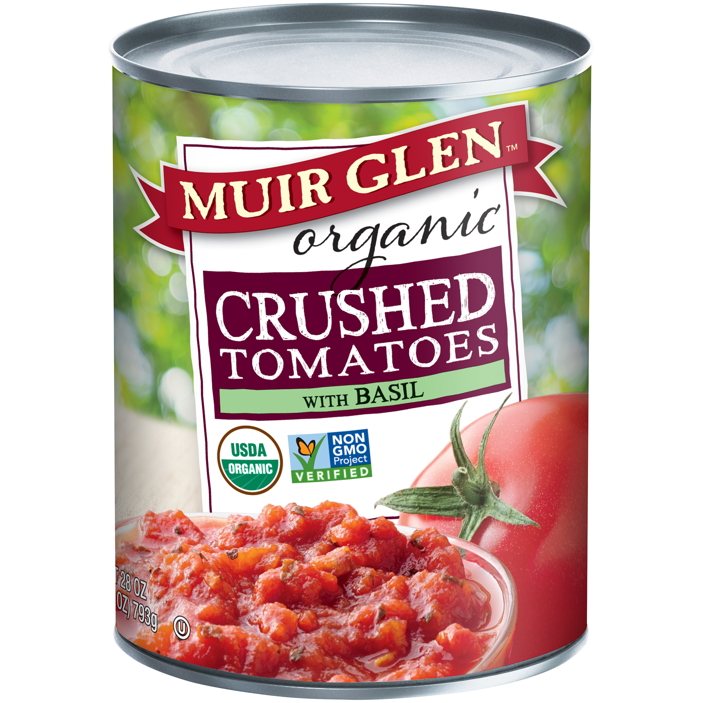 Muir Glen��� Organic Crushed Tomatoes with Basil 28 oz. Can