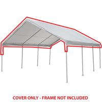 King Canopy 18 ft x 20 ft White Drawstring Carport Canopy Cover