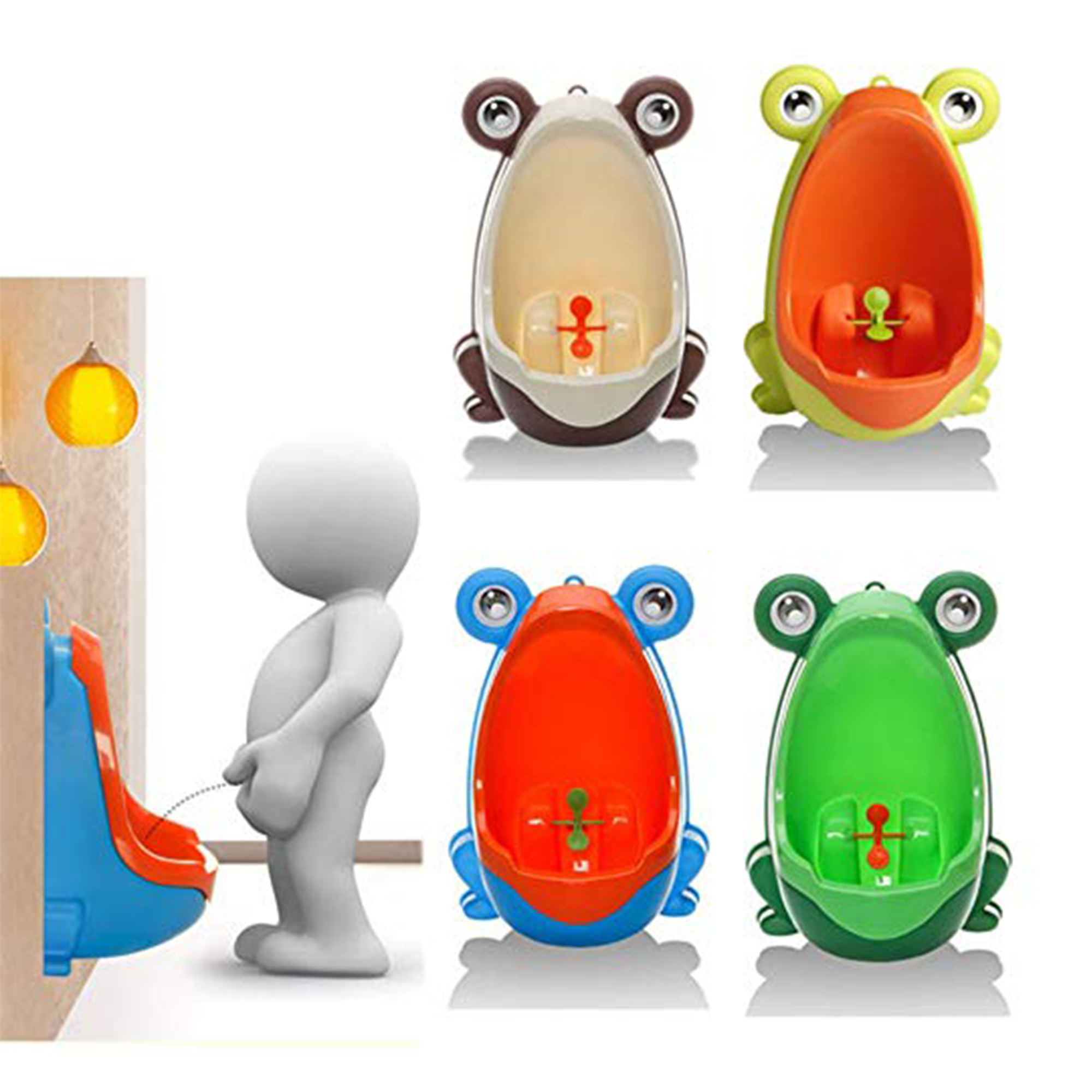 NK Lovely Frog Boy Kids Baby Toilet Training Children Potty Pee Urine Home Bathroom with Funny Aiming Target