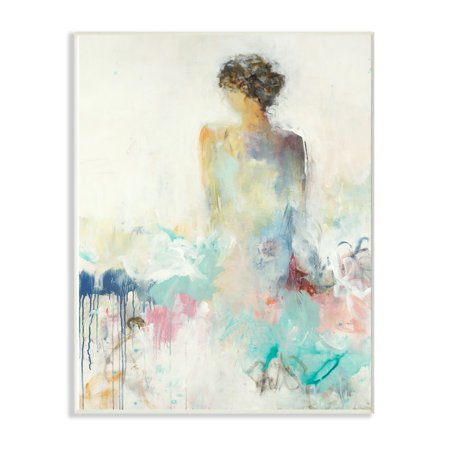 The Stupell Home Decor Collection Soft Textured Figural Woman Portrait Painting Oversized Wall Plaque Art, 12.5 x 0.5 x 18.5