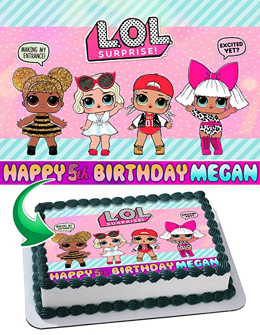 Tennis Girl Cake Topper, Personalized And Custom Happy Birthday Cake Topper