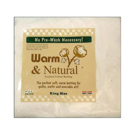 Warm & Natural Cotton Batting King 120x124