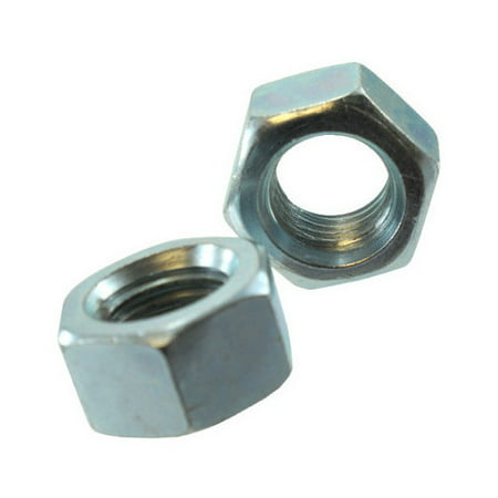 "1""-8 Zinc Plated Left Hand Threaded Hex Nut (Quantity of 1)"