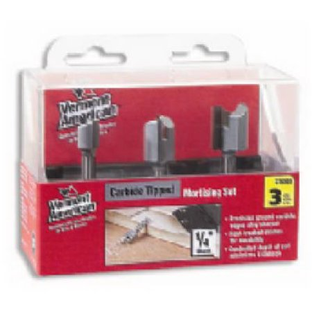 - Vermont American 23008 Hinge Mortising Router Bits, Carbide-Tipped, 3-Pc. Set