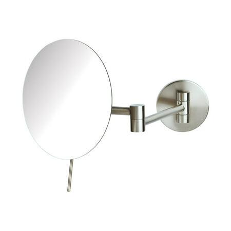5X Wall Makeup Mirror, Nickel