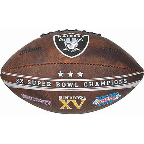 "Wilson NFL Commemorative Championship 9"" Football, Oakland Raiders"